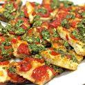 Schiacciatella (pan de pizza) con tomate
